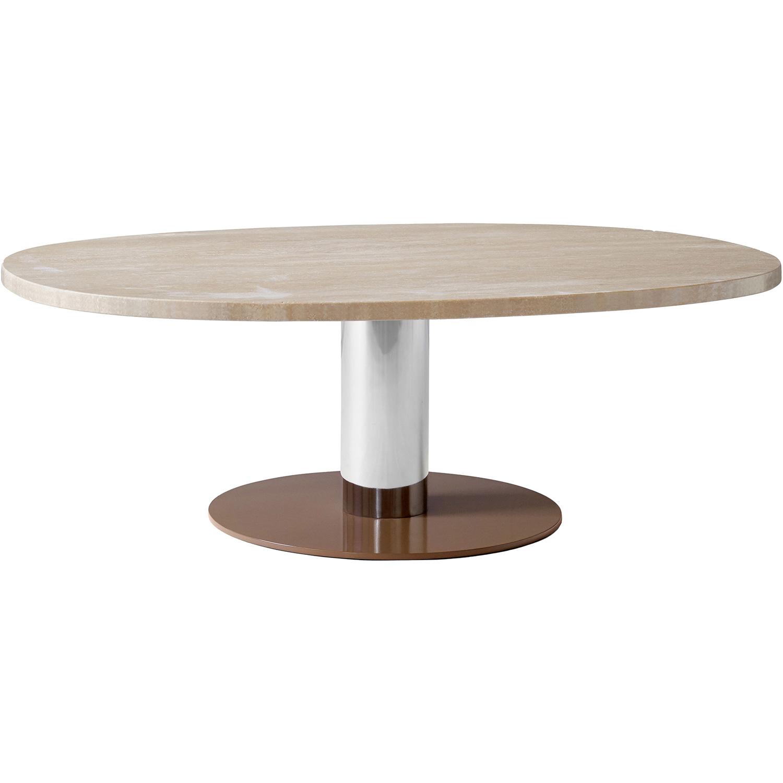 Bilde av &Tradition-Mezcla JH21 table 120x90, travertine/chrome/mud