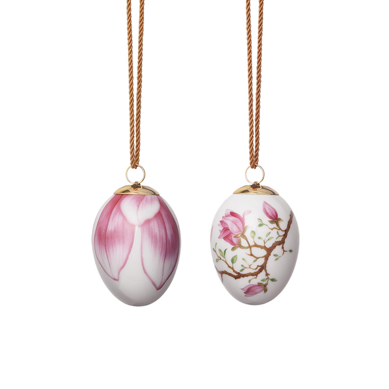 Påskägg Magnolia & Blad, 2-Pack