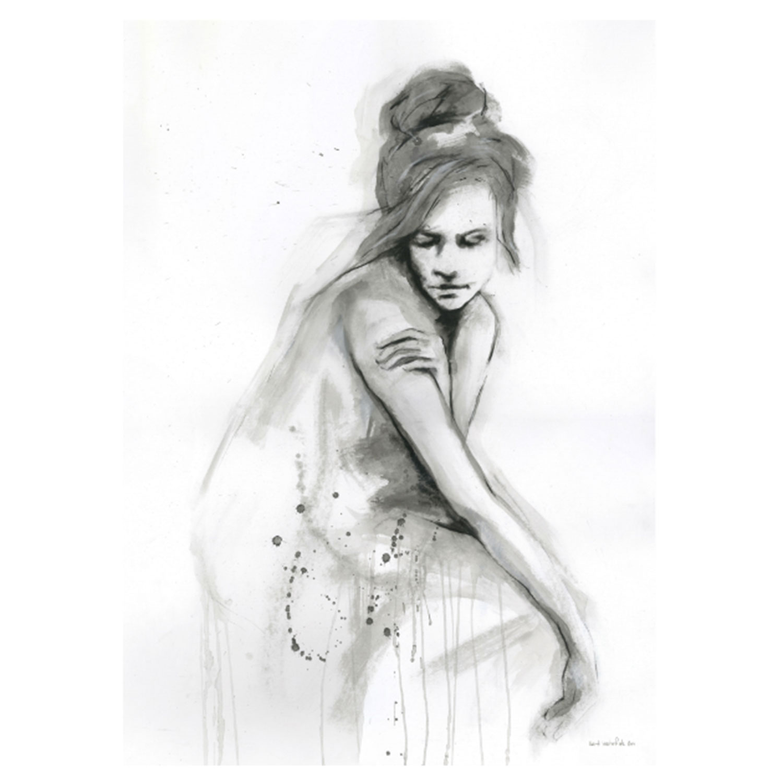 Bilde av Selected by Walnutstreet-Thoughtful no. I Poster 50x70cm Limitert