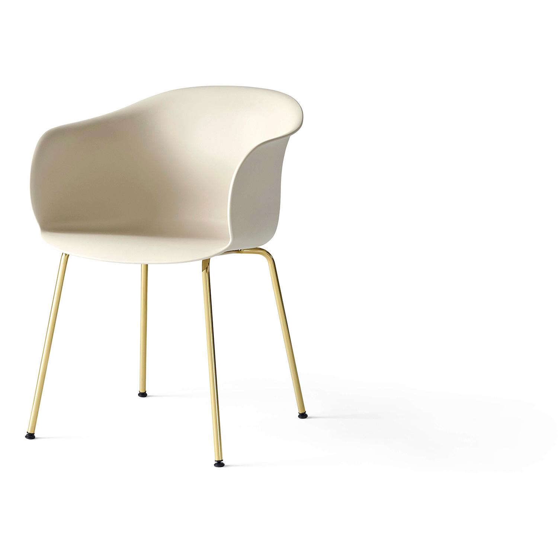 Bilde av &Tradition-Elefy Chair JH28 Brass Base / Soft Beige Cover