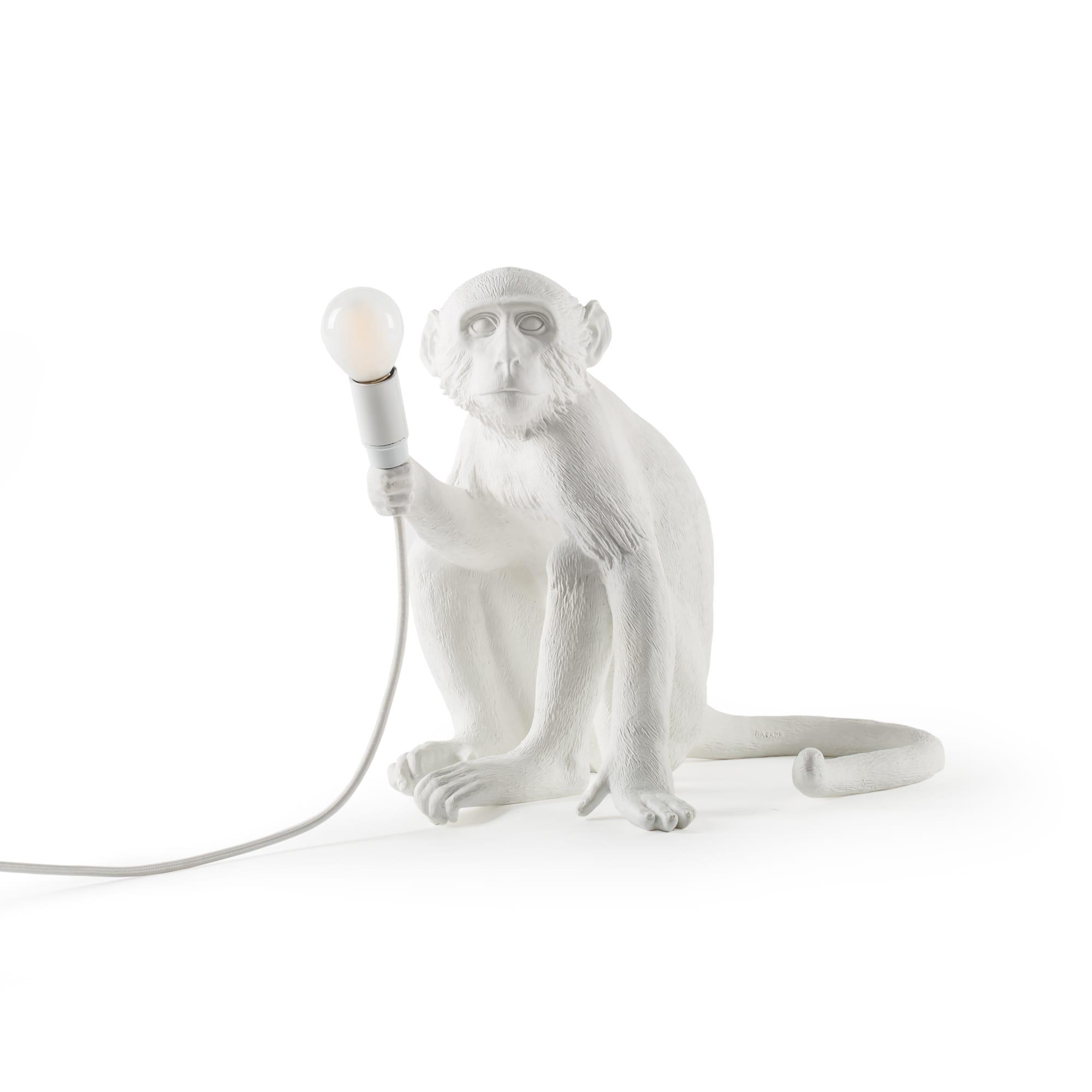 Monkey Lamp Sitting, Vit