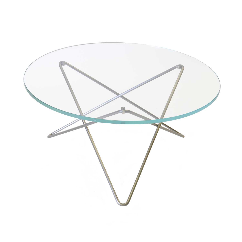 Bilde av OX Denmarq-O Salongbord, Rustfritt Stål/ Klart Glass