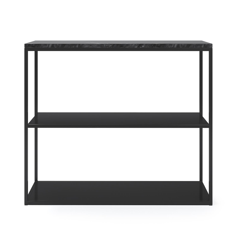 Marvelous Sideboard 90x75 cm, Svart/Svart Marmor