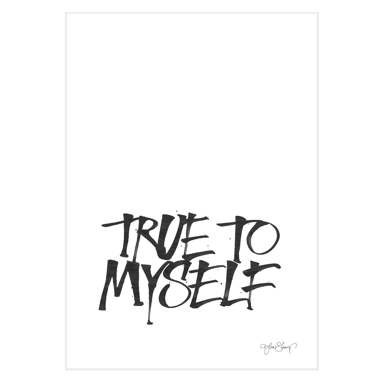 Bilde av Ylva Skarp-True To Myself Poster A4