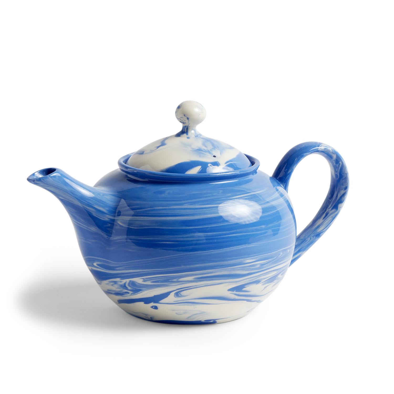 Hay-Marbled Teapot 0.8 L, Blue