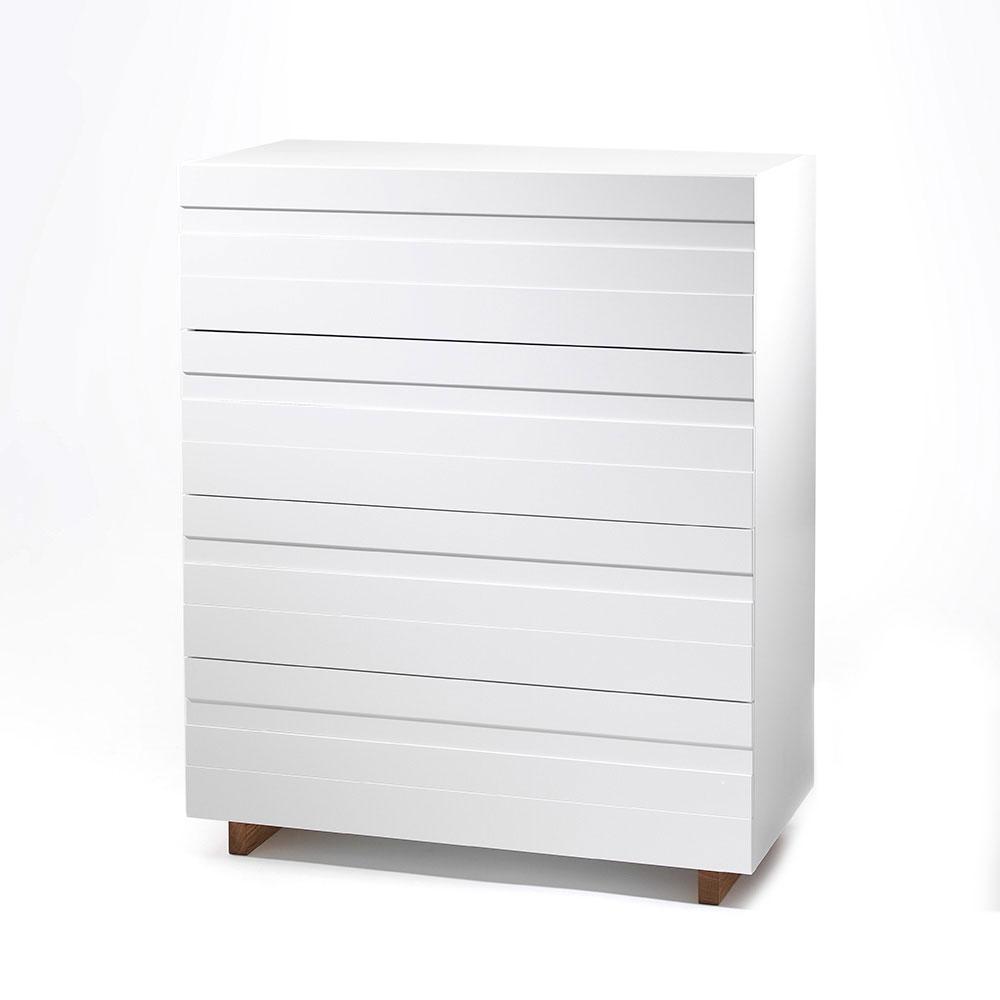 White Byrå 4, Vit/Ek