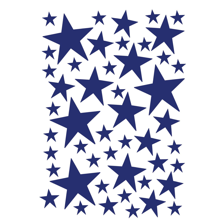 Mini Stars Väggdekor, Blå