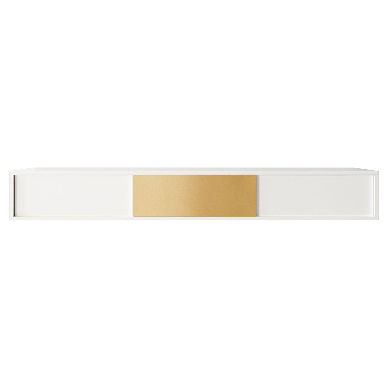 Decotique-Vogue Wall Kaappi Petite 180, Valkoinen/Messinki