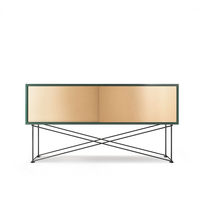 Decotique-Vogue Mediakaluste 136cm, 2-ovea, Vihreä/2B/Musta