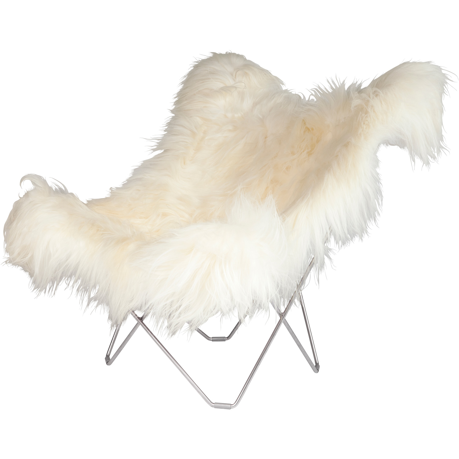 Iceland Mariposa Butterfly Chair, Wild White/Ch...