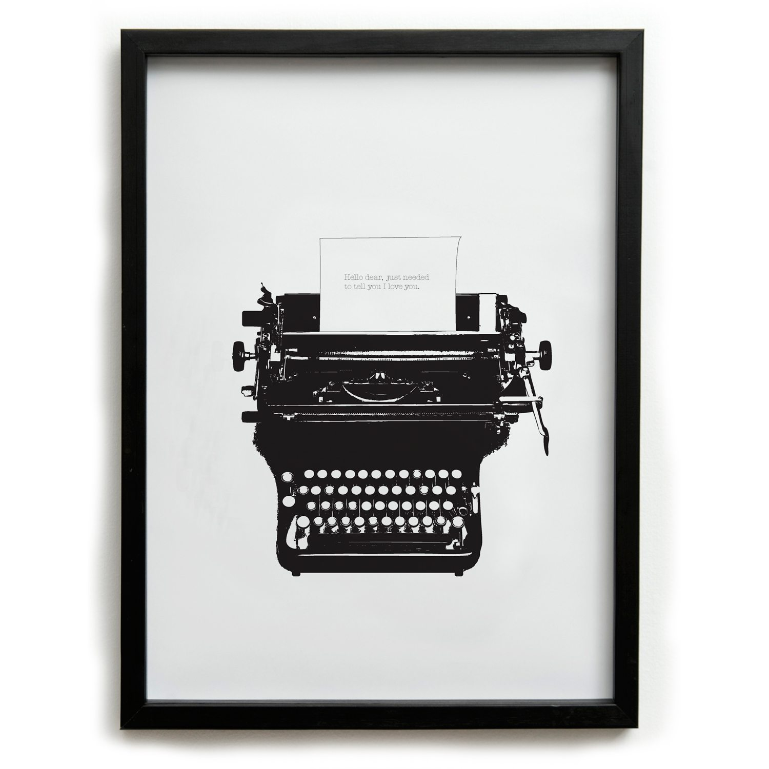 Typed Love Big Poster