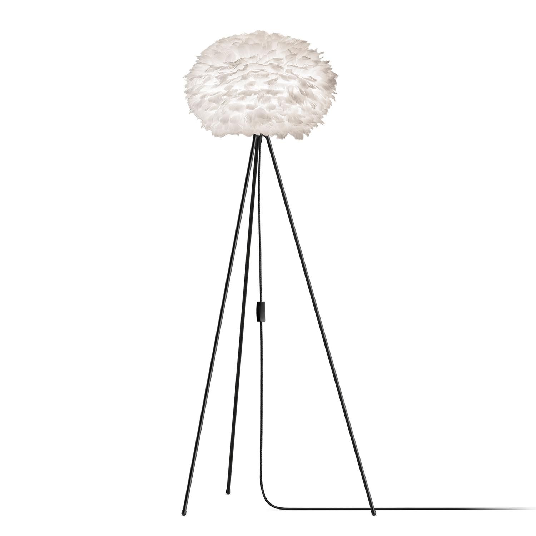 Eos Golvlampa Medium Ø45 cm, Vit/Svart