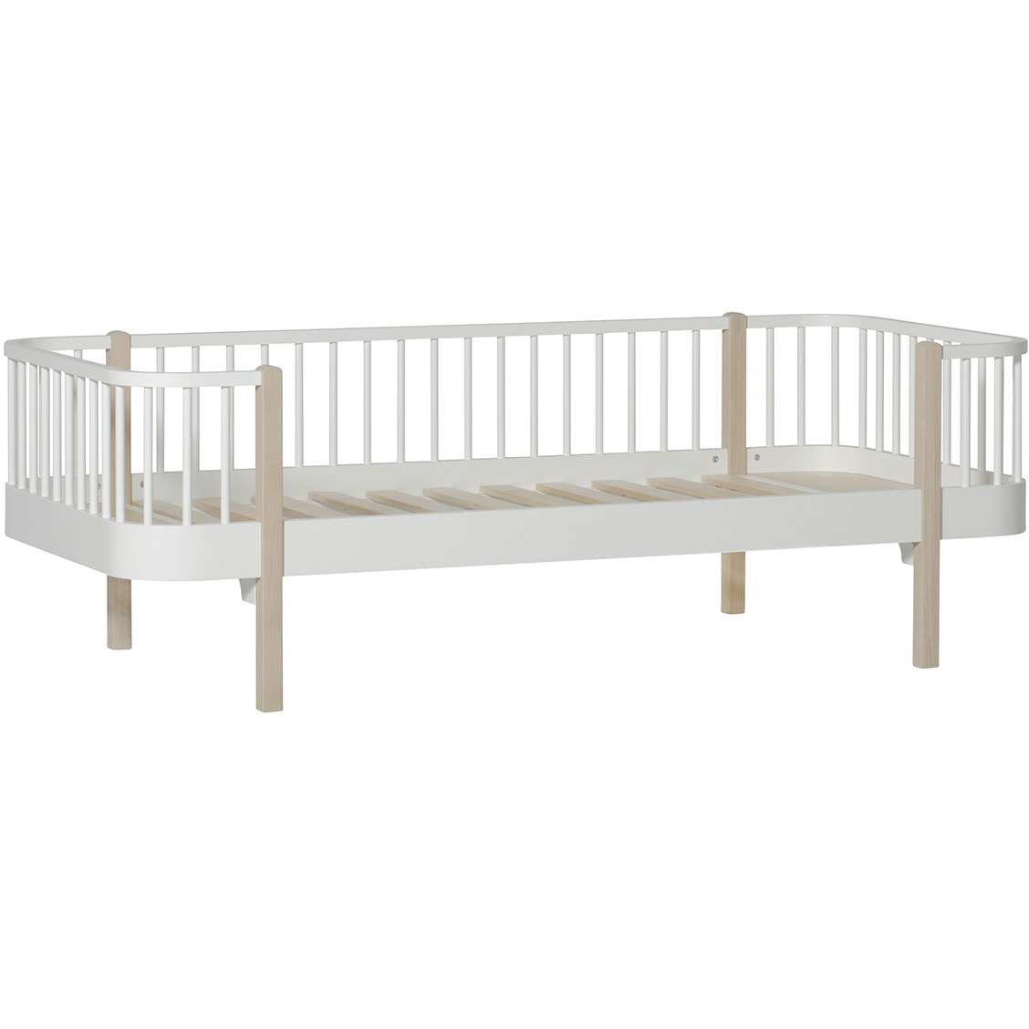 Wood Dagbädd, 90x200cm, Vit/Ek