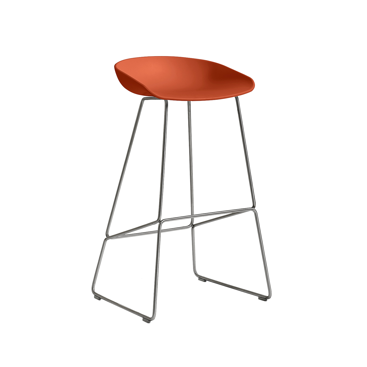 Hay-About A Stool 38 Barstol H75, Beton/Rustfrit