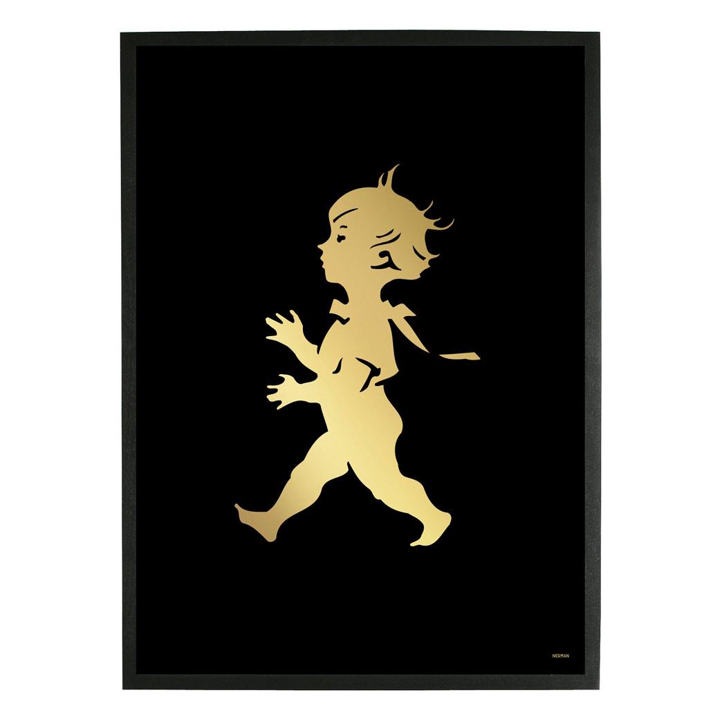 Solstickan Poster 50x70 cm, Guld/Svart