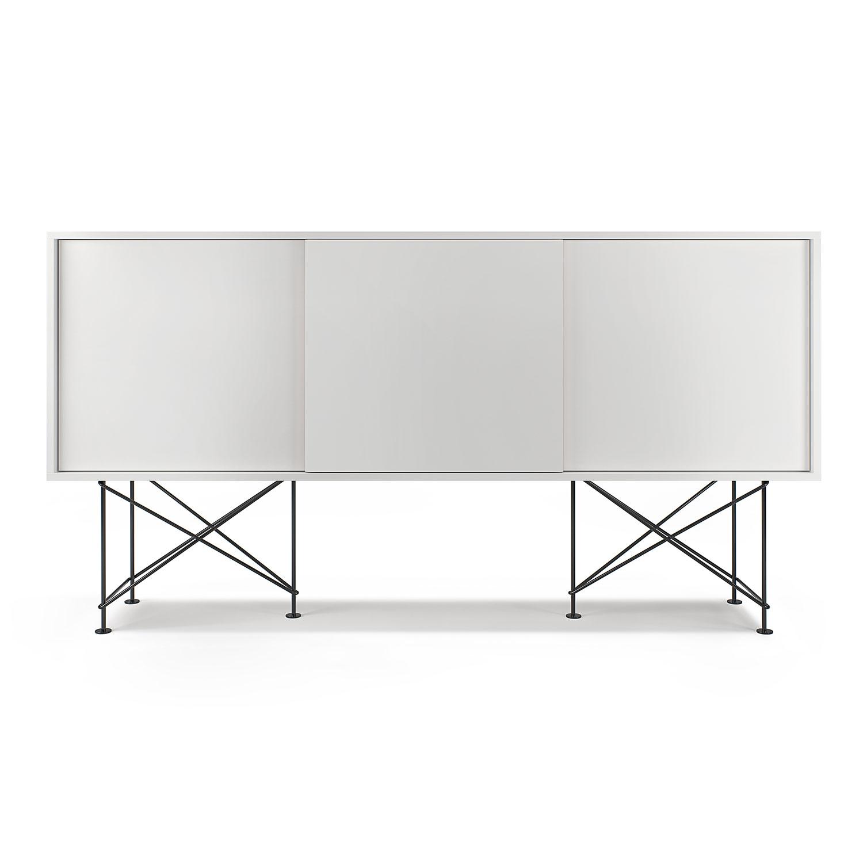 Vogue Sideboard 180H, Valkoinen/3W/Musta, Decotique