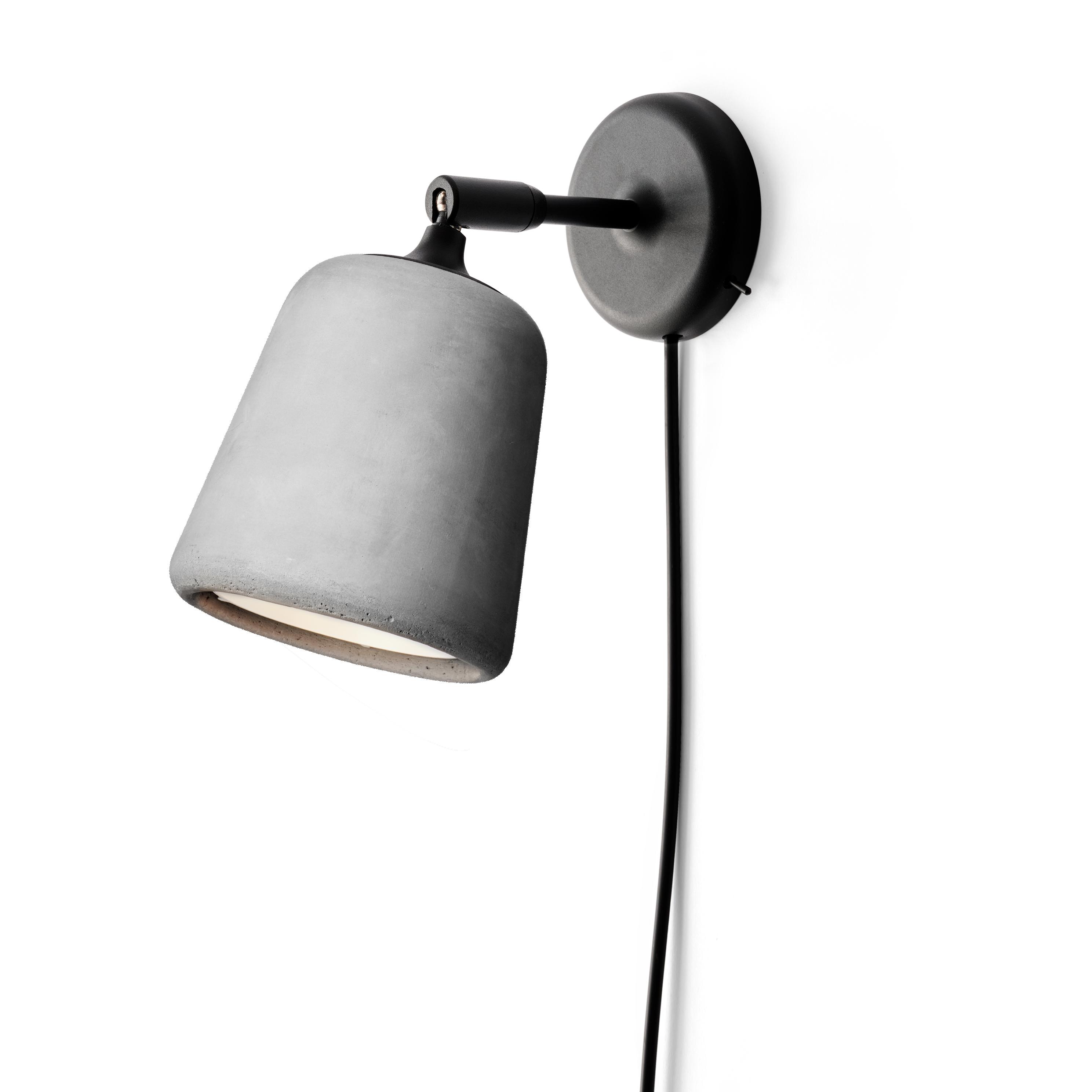 Material Vägglampa, Ljusgrå Betong