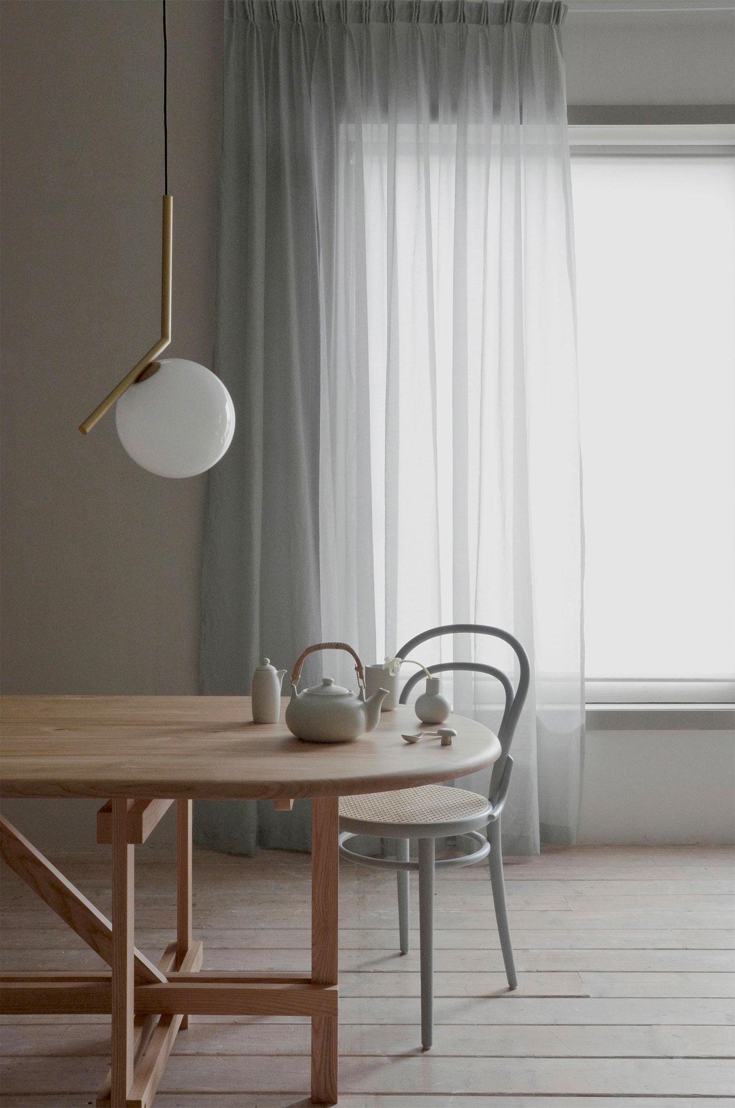 Katy Gardin 290x290 cm, Ljusgrå
