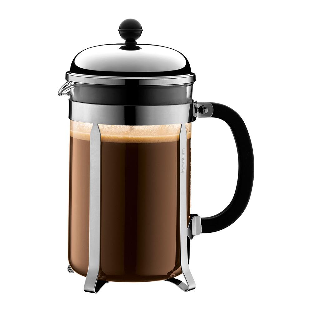 Chambord, Kaffepress 12 Koppar, Krom