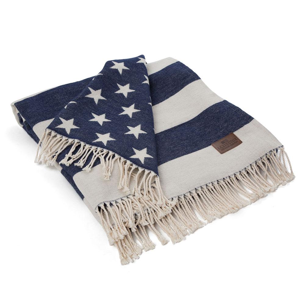Flag Filt 130x170 cm, Vit/Blå