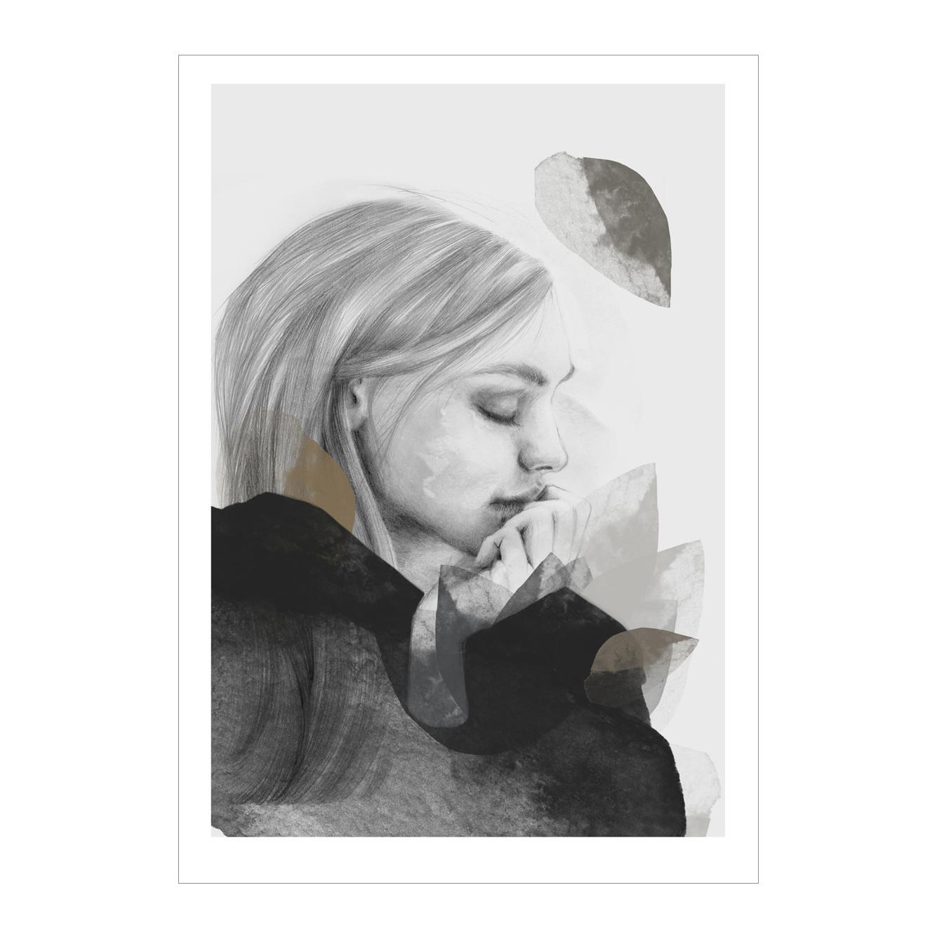 Dreamer In Black Poster 50x70cm