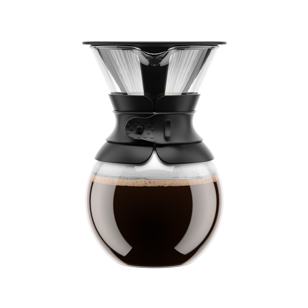 Bodum-POUR OVER Kaffebryggare 1 L, Svart