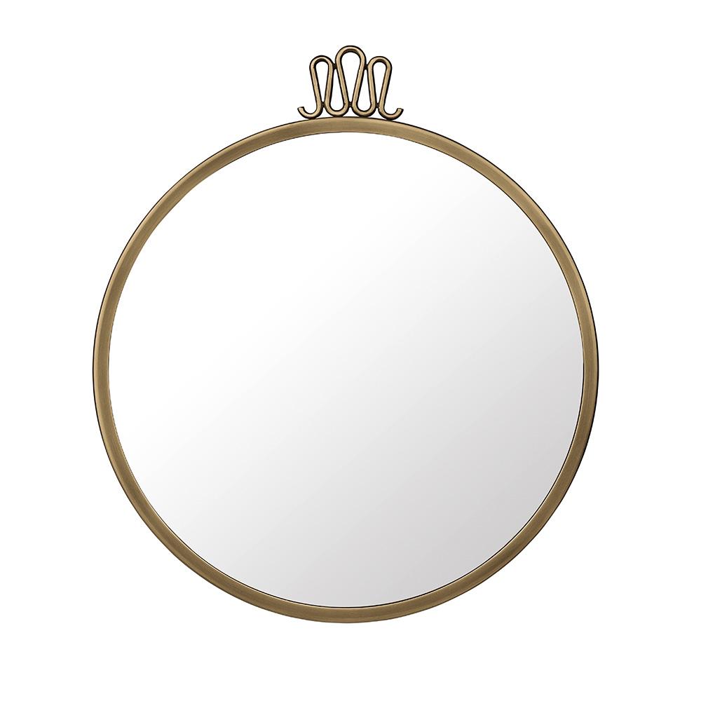 spegel rund mässing