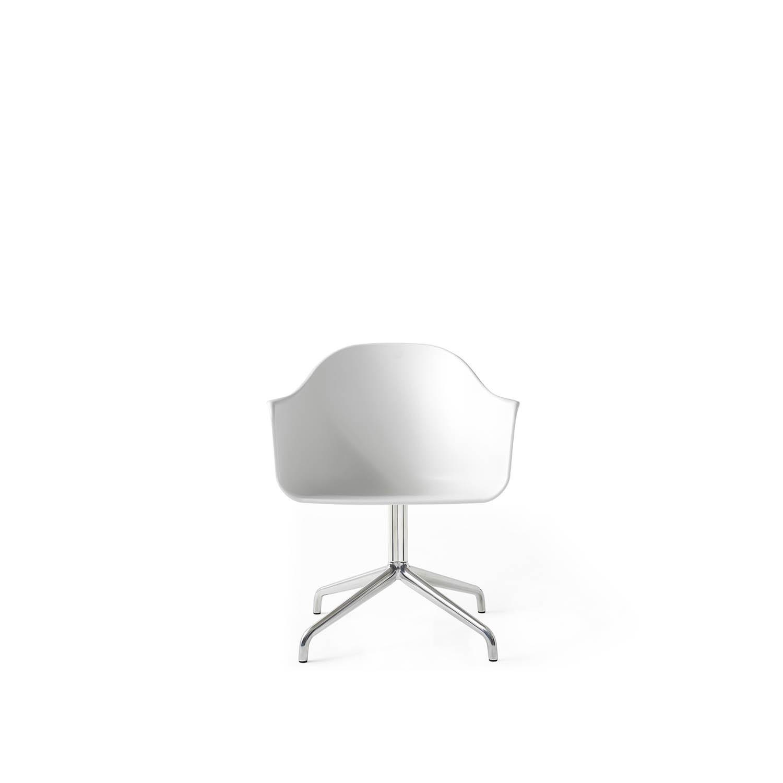 Harbour Chair, Polish ALU Steel Swivel/White Shell