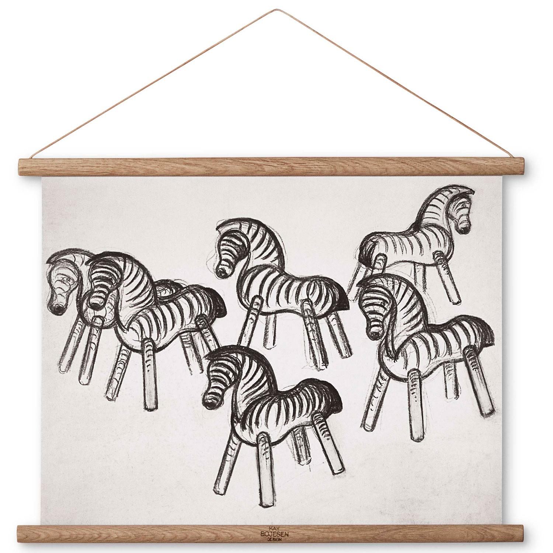 Zebra Ritning 40x30 cm