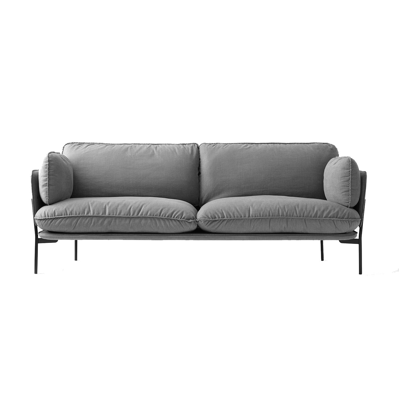 Bilde av &Tradition-Cloud 3-Seters Sofa, Svarte Bein/Hot Madison 724