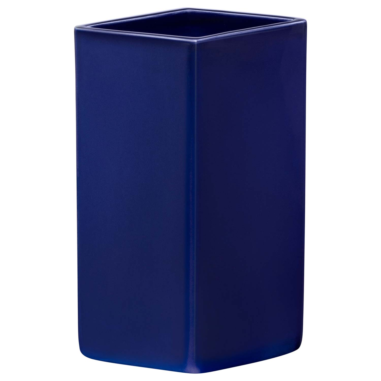 Ruutu Keramikvas 18 cm, Mörkblå