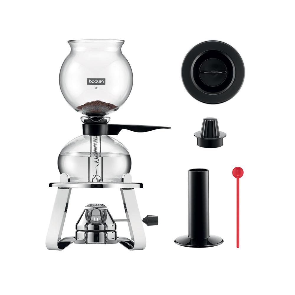 PEBO Vakuum Kaffebryggare 1 L, Svart