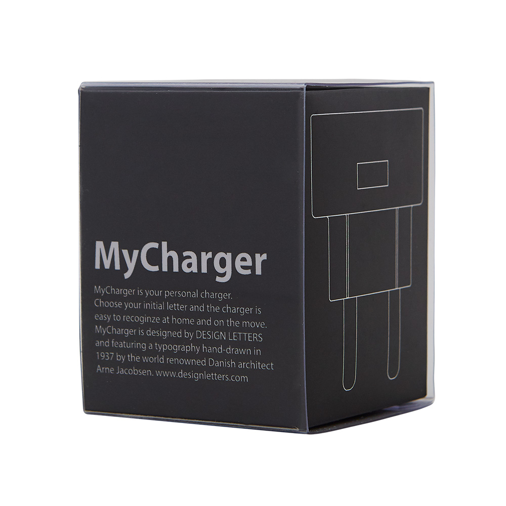 MyCharger USB Lader Design Letters @ RoyalDesign.no