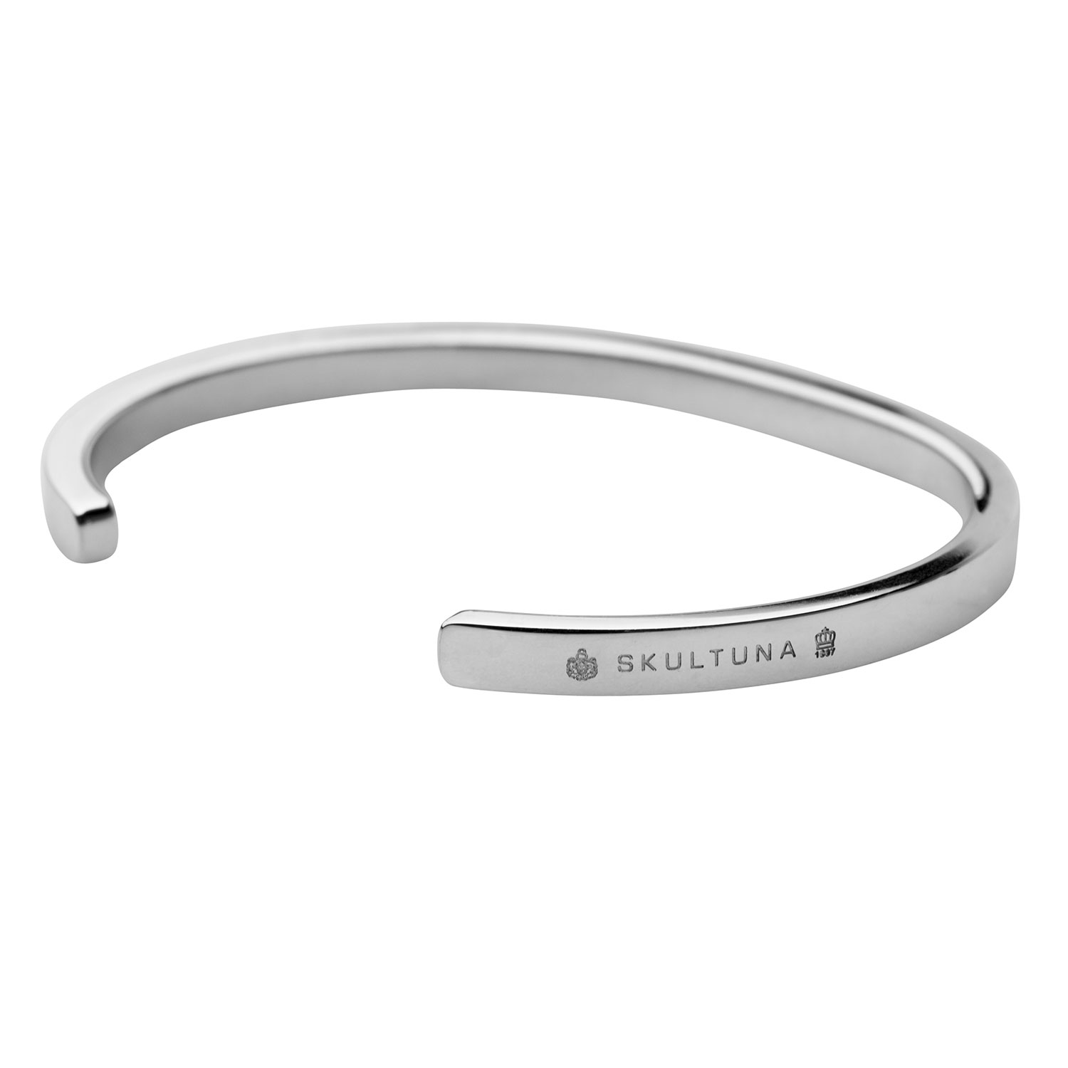 Skultuna-SB Thin Armband Polished Steel, 65 mm