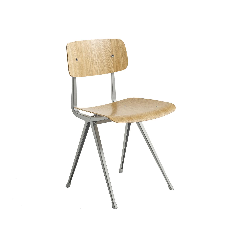 Result Chair Stol, Klarlackad Ek/Beige