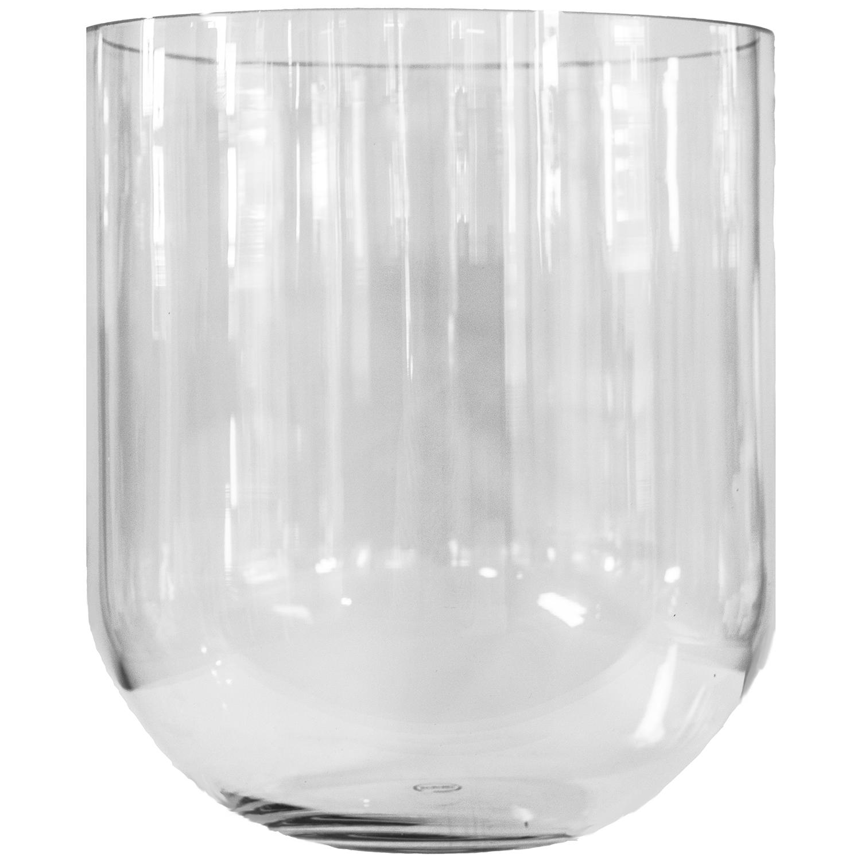 Simple Glass Vase L, Smoke, DBKD
