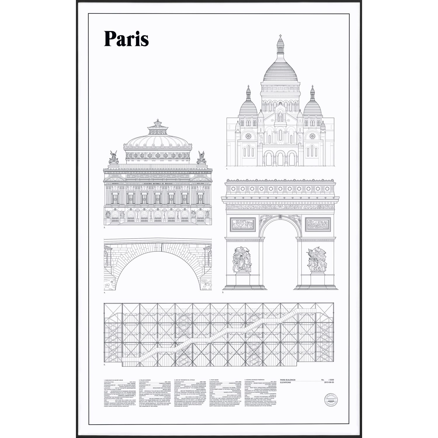 Paris Elevations Poster