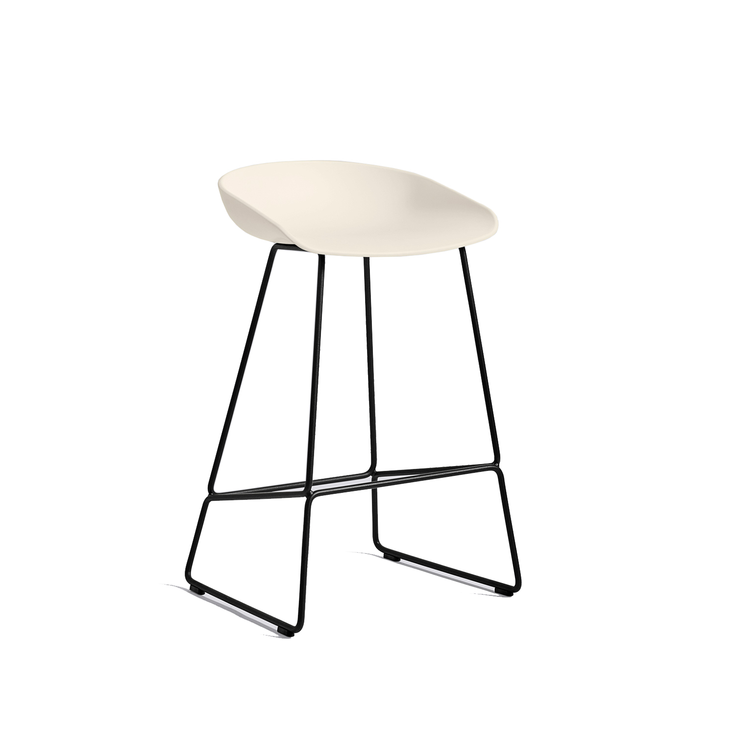 Hay-About A Stool 38 Barstol H65, Cream White/Sort