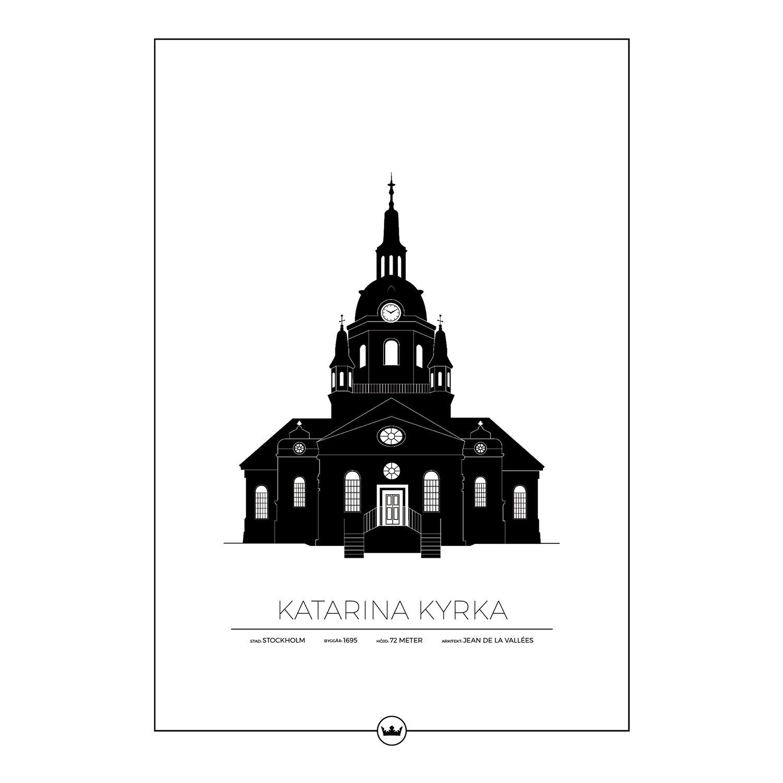 Katarina Kyrka Stockholm Poster 50x70cm