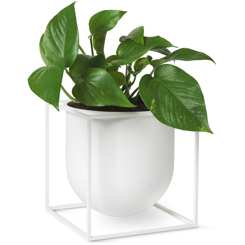 by Lassen-Kubus Flowerpot 23, White