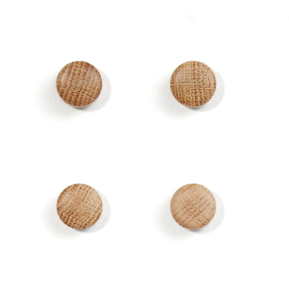 Wall Wood Magnet Ek, 4-pack, Ek