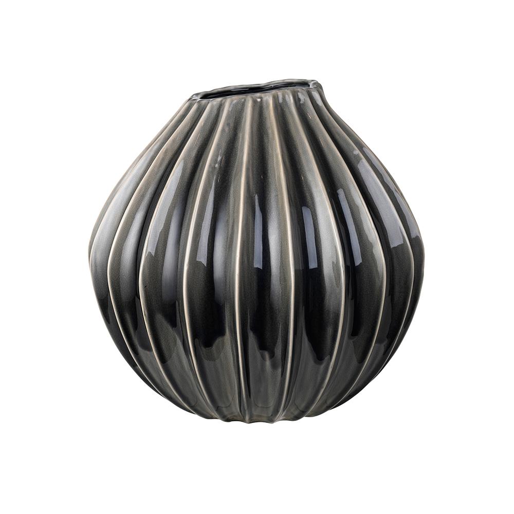 Wide Vase 20 cm, Smoked Pearl   Broste Copenhagen  RoyalDesign.de