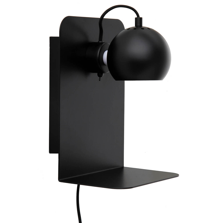 Frandsen-Ball metal Wall light with USB, Matt Black