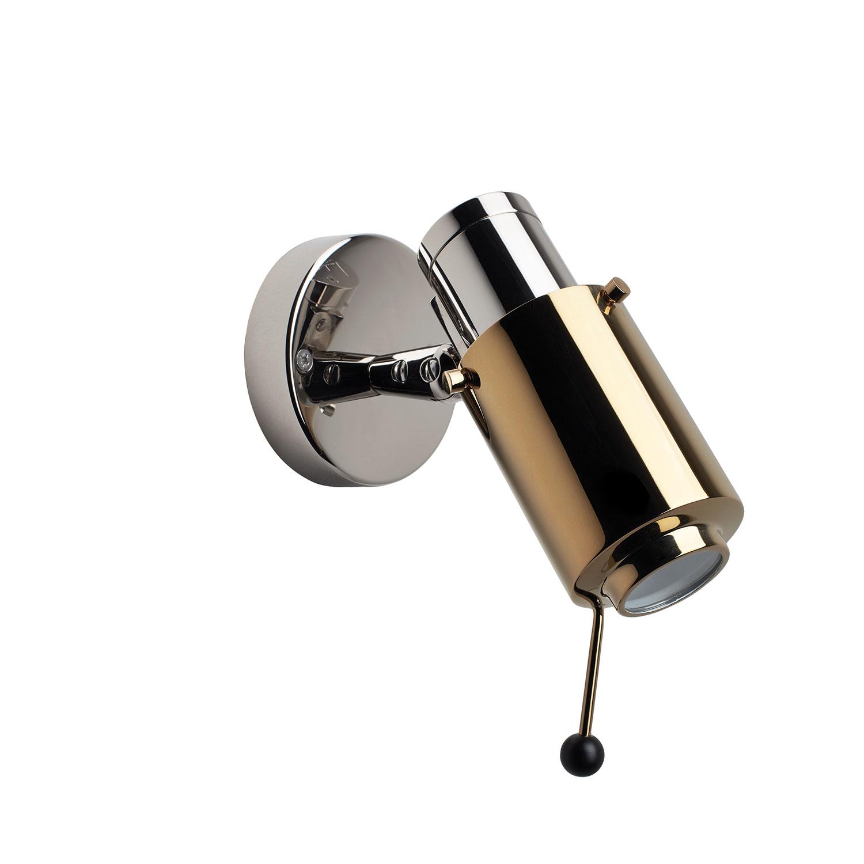 Biny-Spot Vägglampa, Nickel/Guld