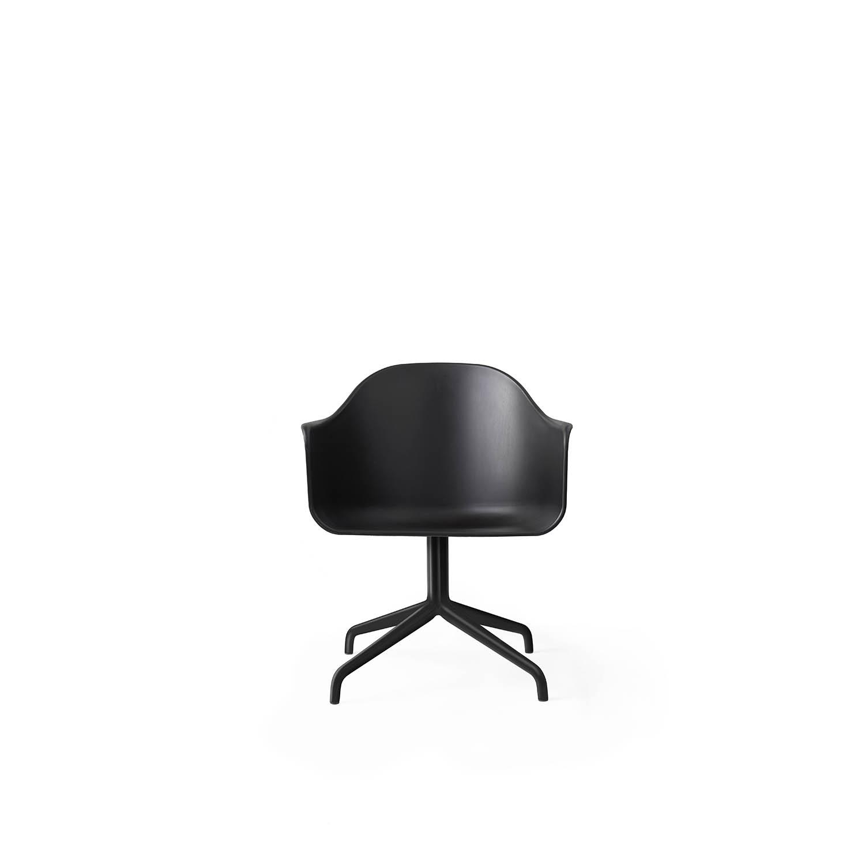Harbour Chair, Black Swivel/Black Shell