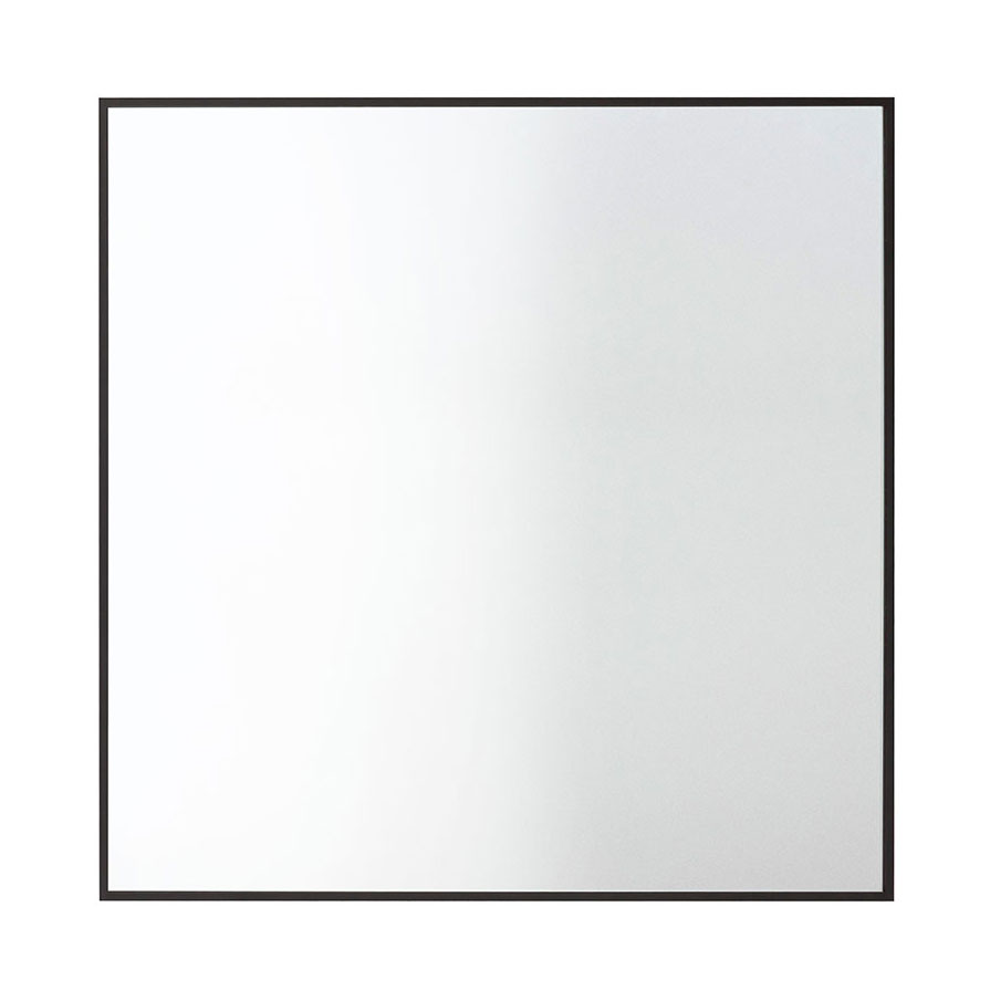 by Lassen-View Mirror 56x56cm, Black