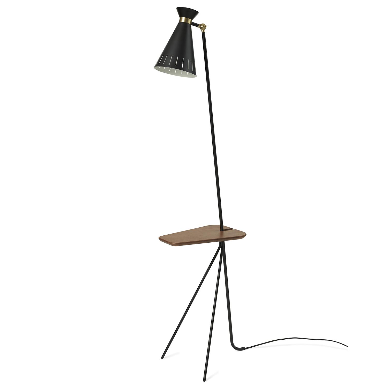Bilde av Warm Nordic-Cone Floor Lamp With Table