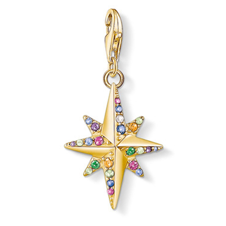 Charm Hänge Multifärg Stjärna Guld, 33x17