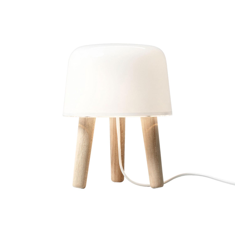 Bilde av &Tradition-Milk Bordlampe, Ubehandlet Ask/Hvit Ledning