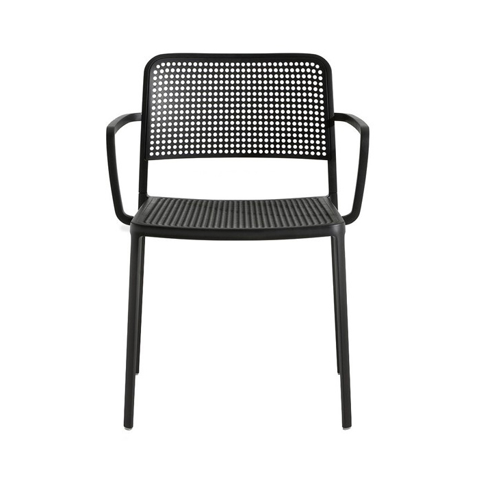 Audrey Chair with armrest, Black, Kartell